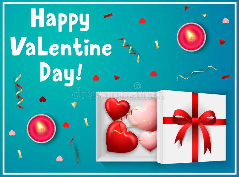 Happy Valentines Day greeting card stock illustration
