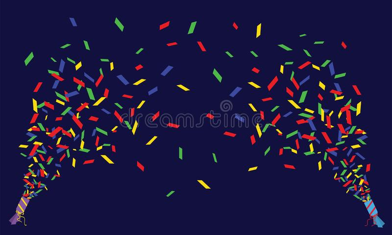 Two Vector Confetti Poppers Stock Vector - Illustration of colored, festive: 137532421 - 웹