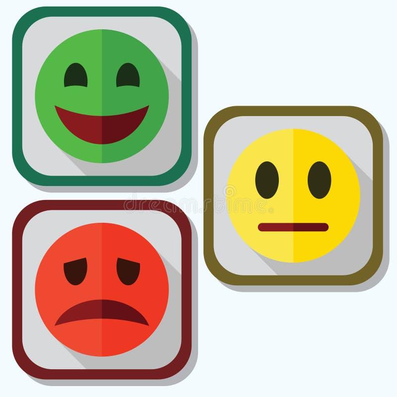 Set of evaluation emoticons royalty free illustration