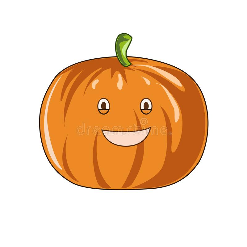 Pumpkin Vegetable Cartoon cute vector for everyone stock illustration