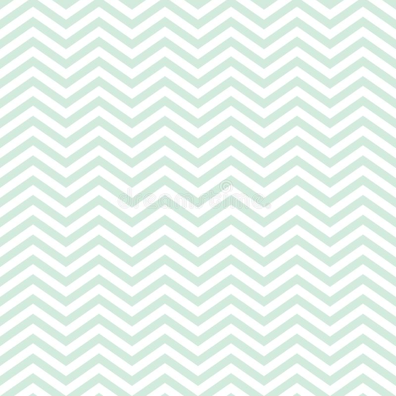 Chevron Seamless Baby Pattern With Green Zig Zag stock images