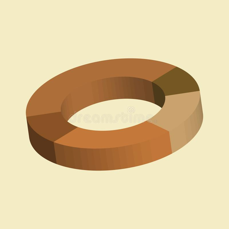 Donut circle divided into sectors charts vector illustration