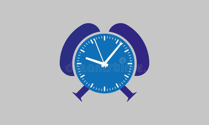 Vector Time Blue Clock - Watching Time Device -Alarm Clock vector illustration