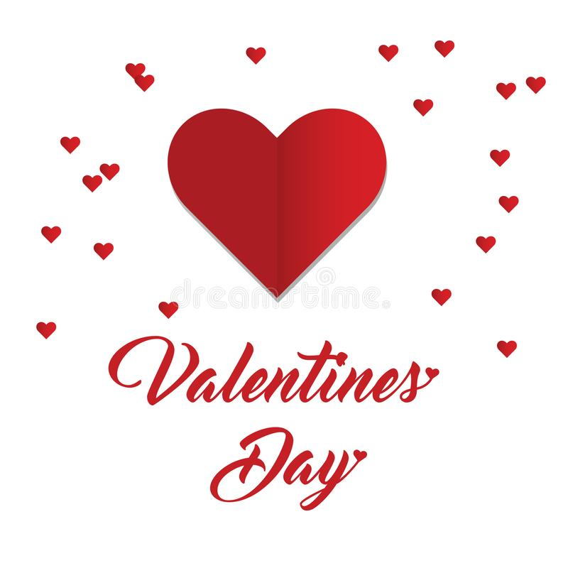 Happy Valentine`s Day with heart shape. Happy Valentine`s Day celebrates for people who are in love with their beloved ones stock illustration
