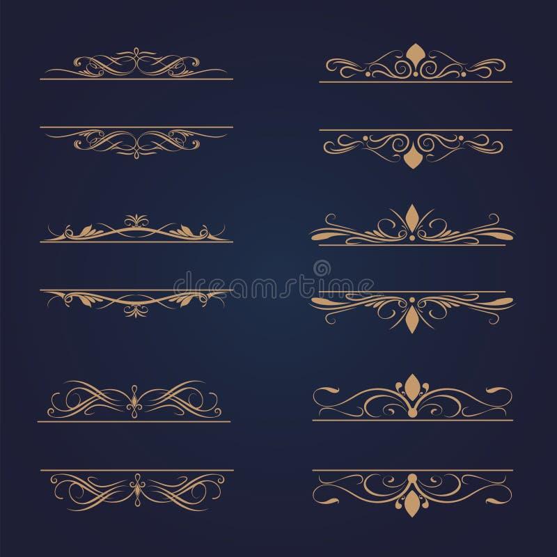 Set of frames vector stock illustration