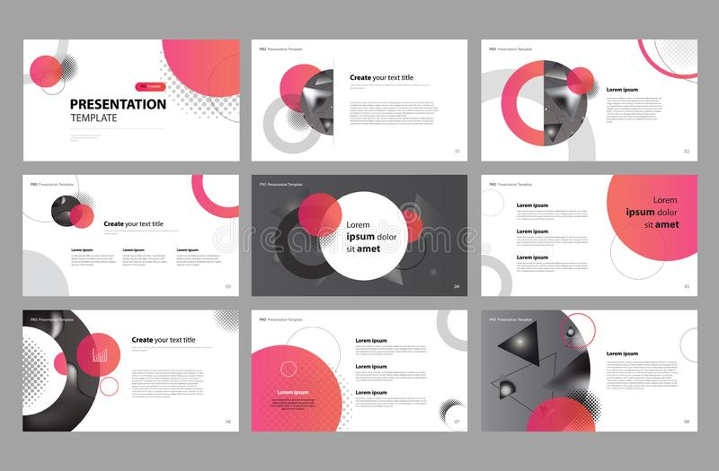 Business presentation page layout template design and use for brochure ,book , magazine, annual report and company profile stock illustration