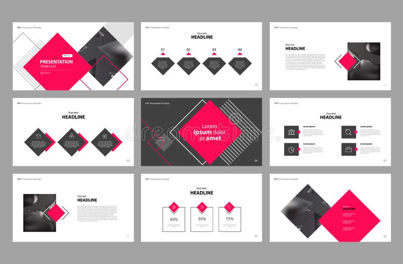 Business presentation page layout template design and use for brochure ,book , magazine, annual report and company profile vector illustration