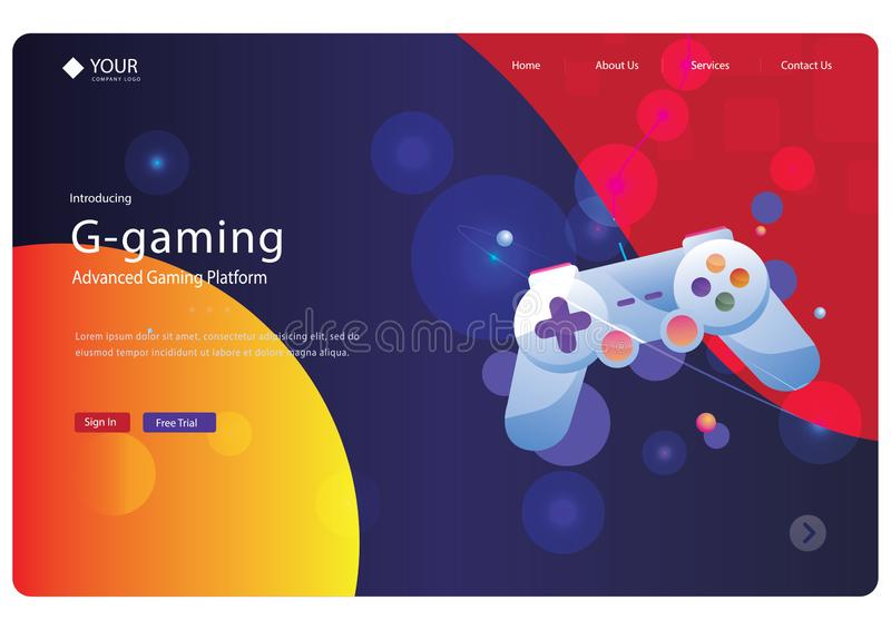 Abstract landing page design -abstract. Abstract landing page design you can use design web pages,landing pages and banners it is 100% and use Adobe AI royalty free stock photo