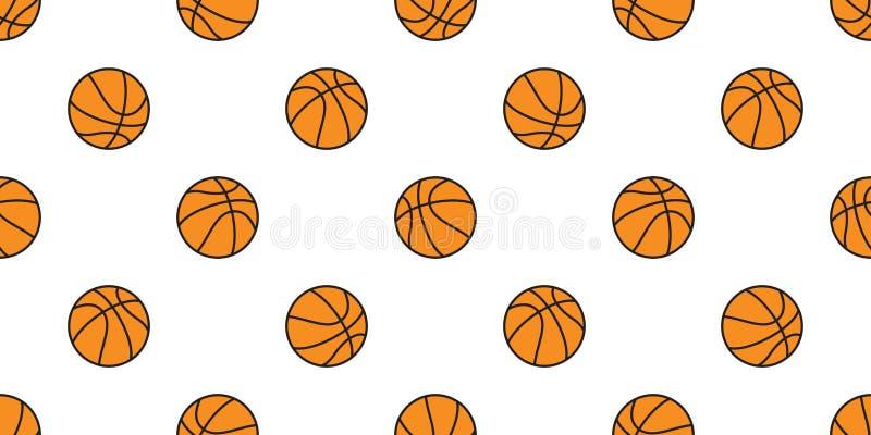 Pattern For Sport Wallpaper: Basketball Seamless Pattern Vector Stripes Ball Sport