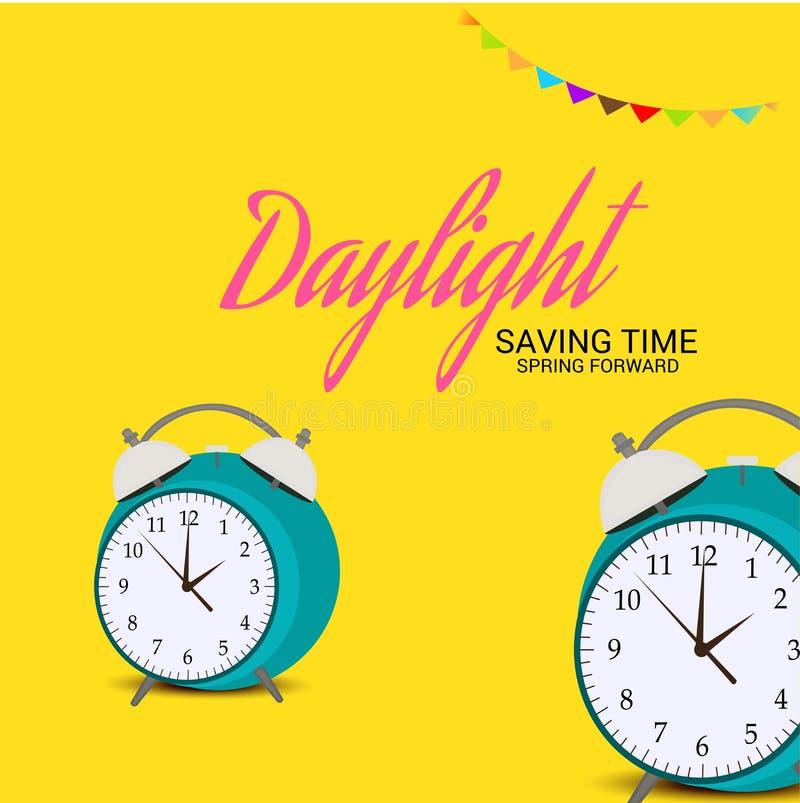 Daylight Saving TimeSpring Forward. royalty free illustration