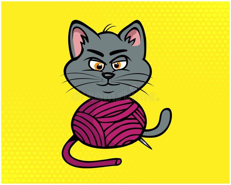 Cat funny illustration 05 royalty free illustration