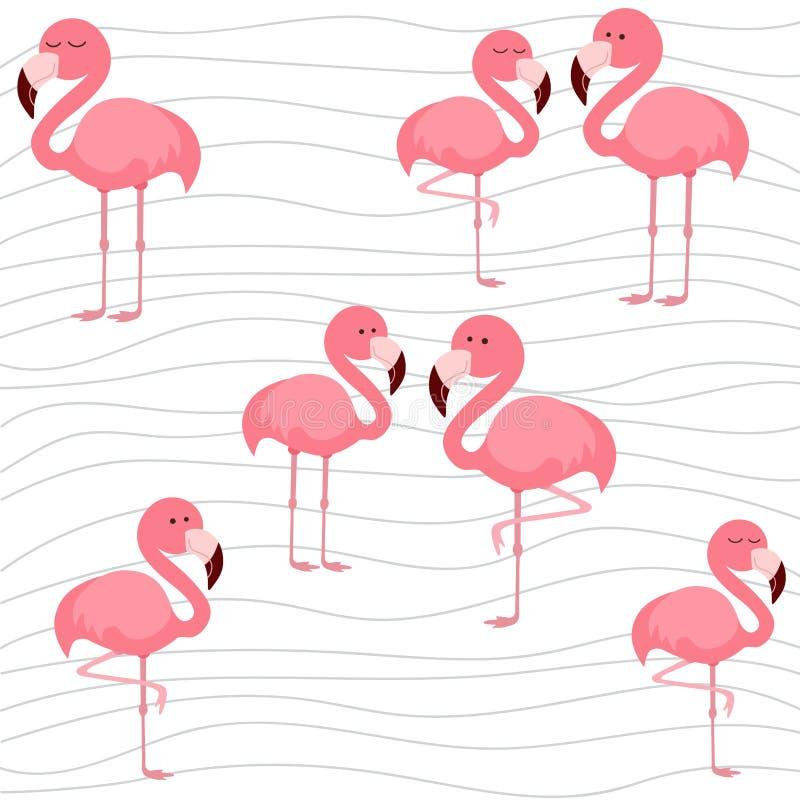 Print cute flamingo. Cute flamingo, vector illustration pattern royalty free illustration