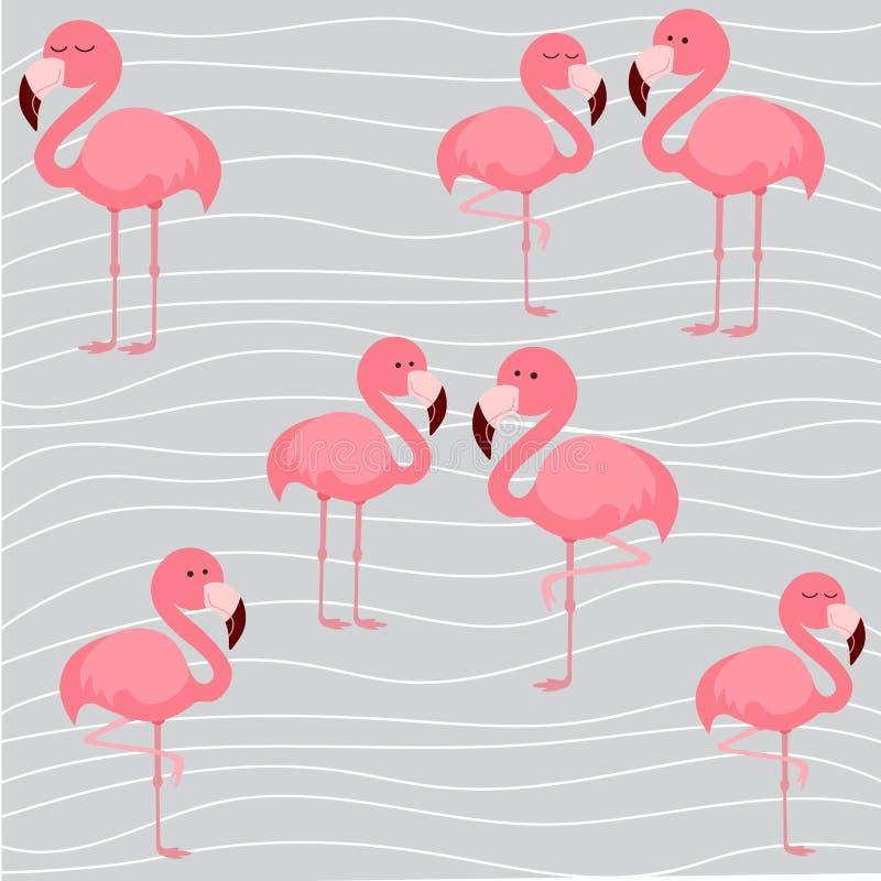 Print cute flamingo. Cute flamingo, vector illustration pattern vector illustration