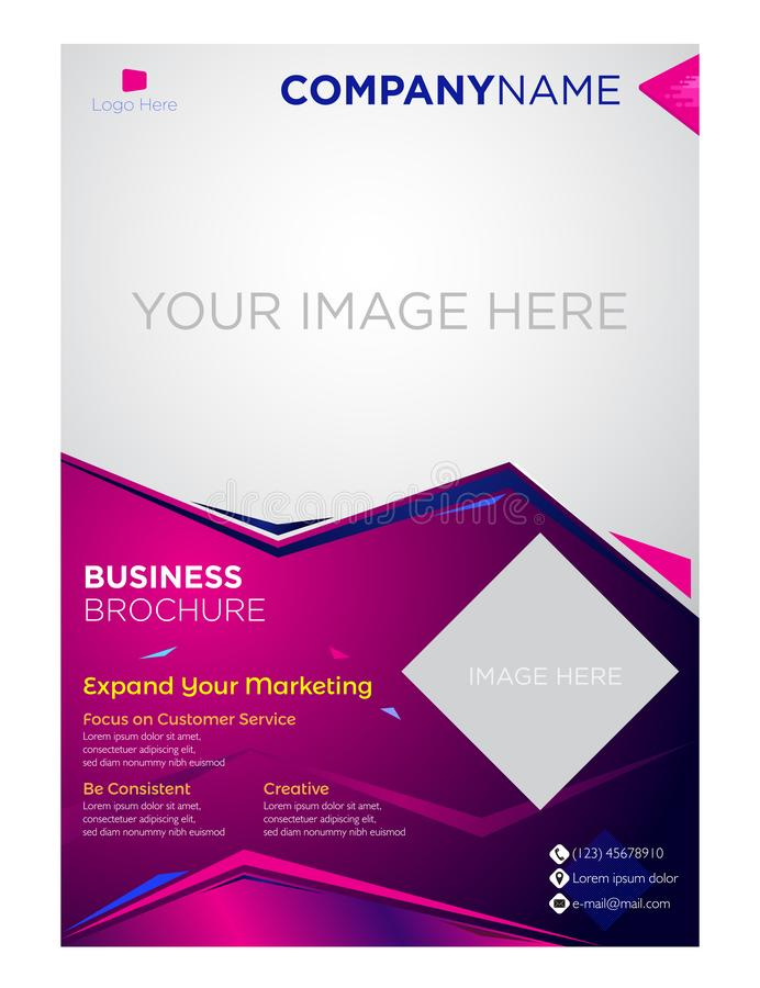 Brochure flyer business company and corporate design. Use for leaflet, flyer, brochure, annual report, cover and many more stock illustration