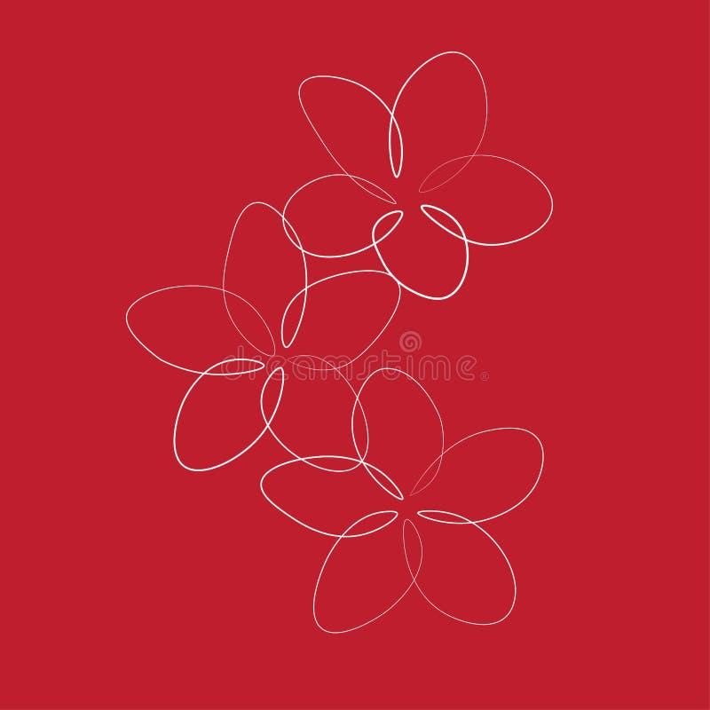 Print One line drawing rose flower, vector illustration vector illustration
