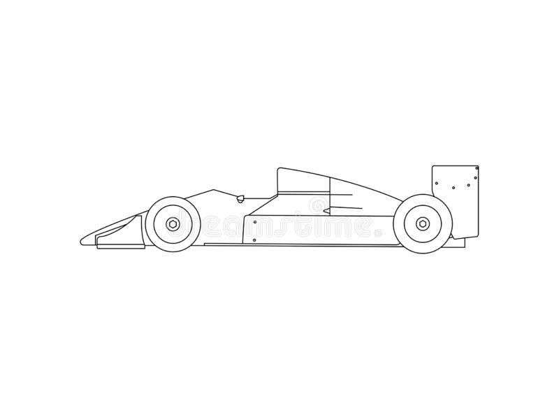 Side view of classic race car royalty free illustration