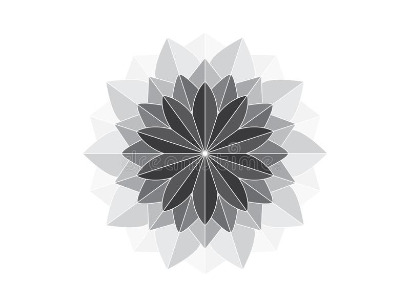 Mandala like geometric ornament. Grey mandala like geometric ornament illustration in vector format vector illustration