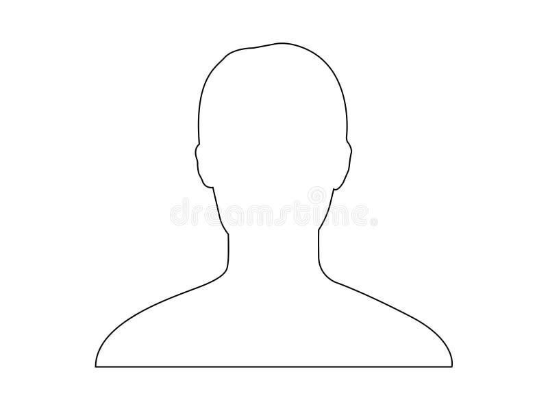 Profile avatar image vector stock illustration