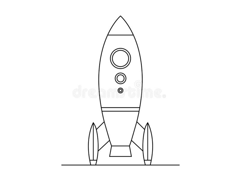 Rocket illustation vector royalty free illustration