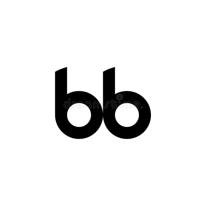 Bb logo letter design vector illustration