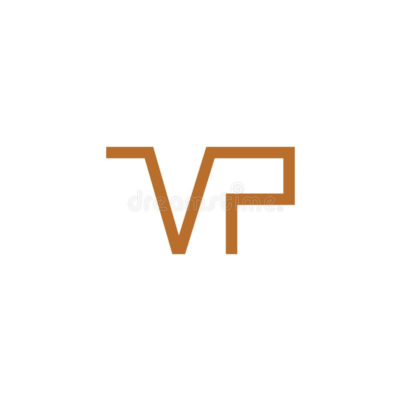 VP logo letter design royalty free illustration