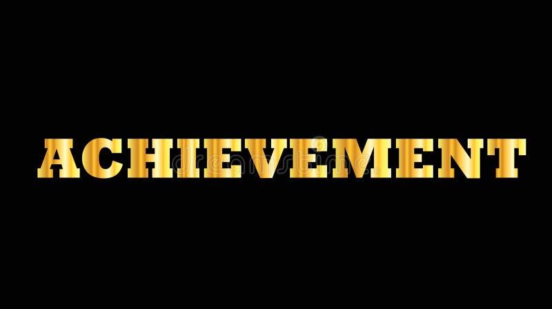 Shiny golden capital letter word achievement vector illustration
