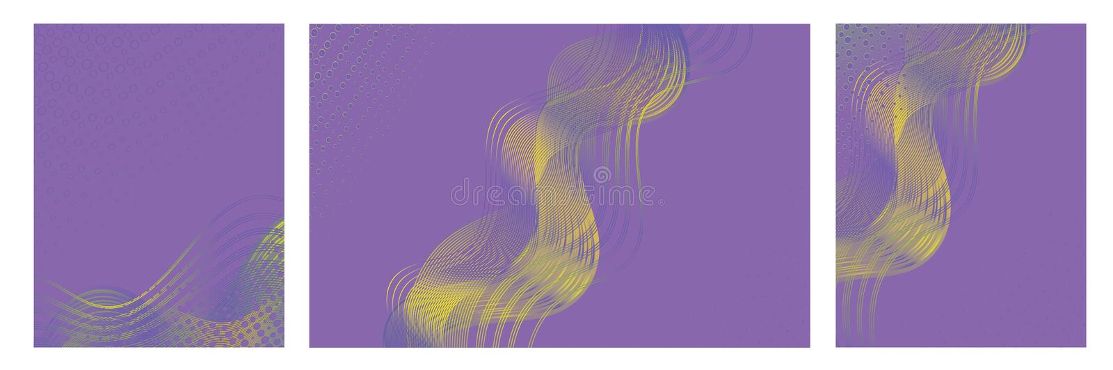 Abstract  backgrounds with trendy colorful design for brochures, posters, presentations and banners. stock illustration