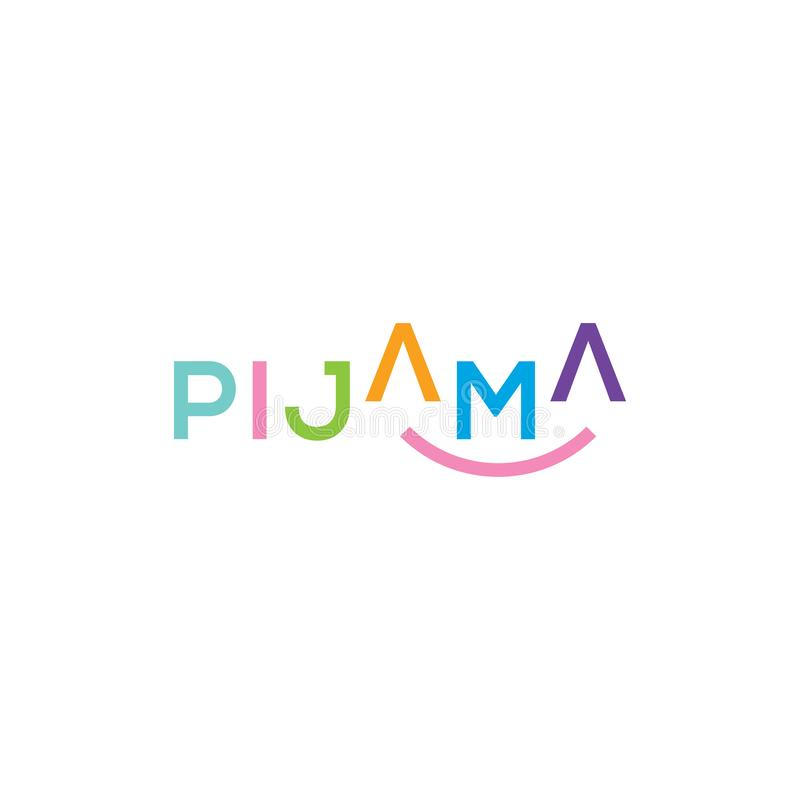 Pajamas vector logo. Pajamas icon vector illustration