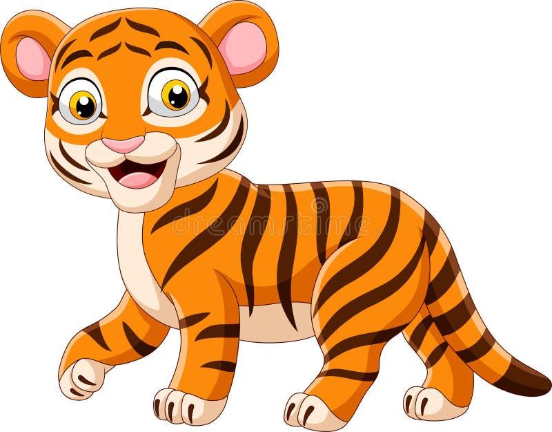 Cartoon funny baby tiger. Illustration of Cartoon funny baby tiger royalty free illustration