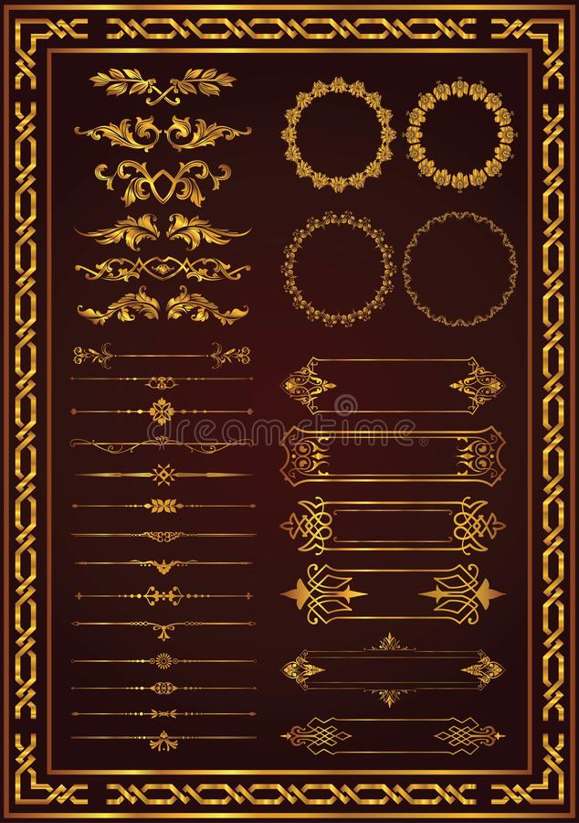 Example of setting a nice decorative vintage frame.  royalty free illustration