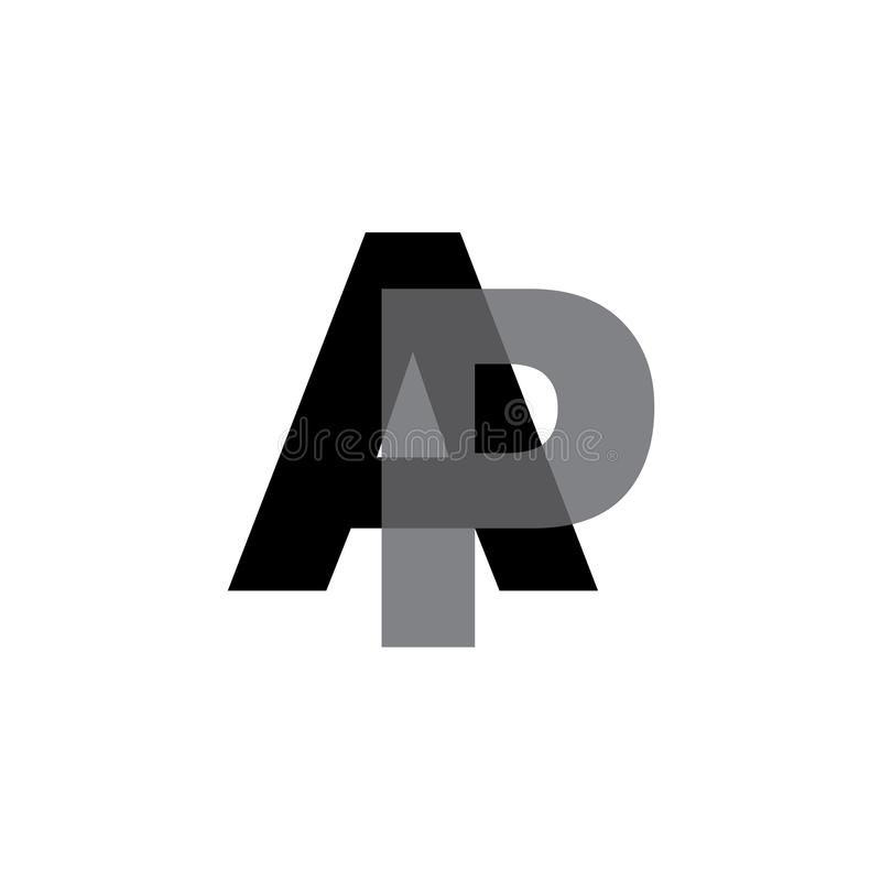 AP logo letter design stock illustration