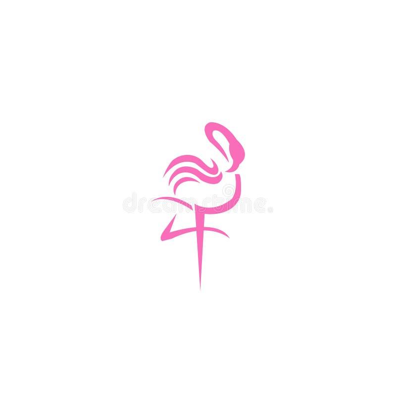 Flamingo logo design pink- Stock vector illustration stock illustration