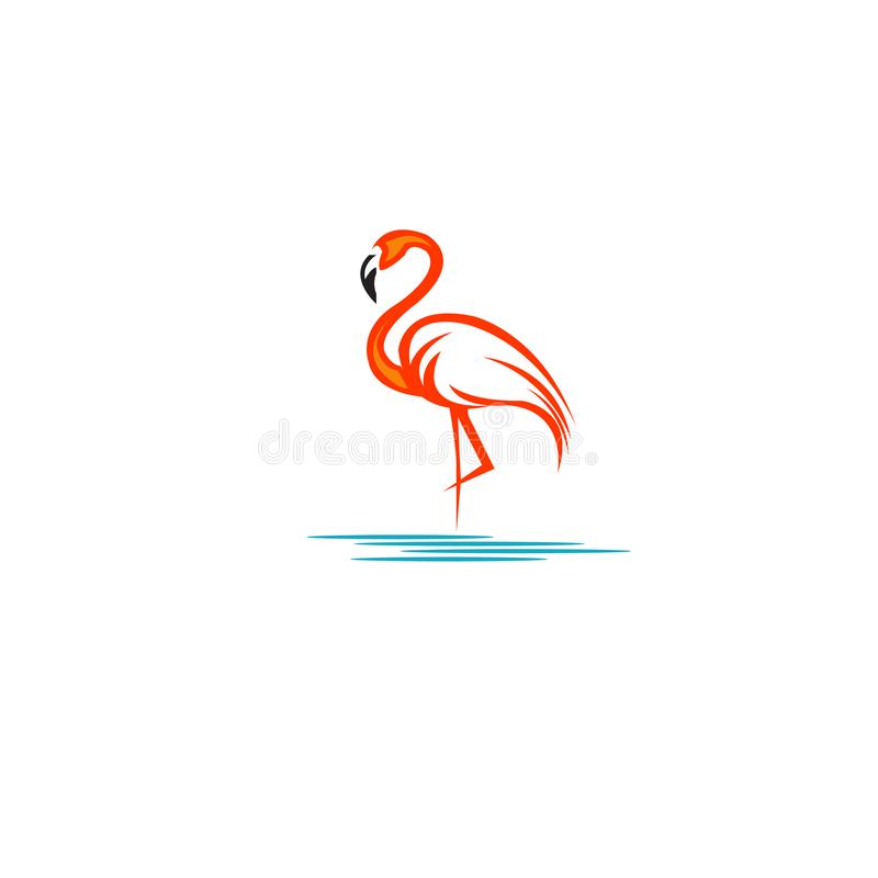 Flamingo logo design pink- Stock vector illustration royalty free illustration