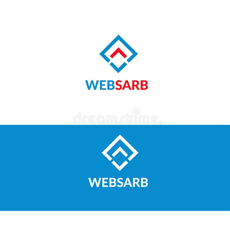 Web software logo -   - Stock logo illustration. Web software logo stock illustration