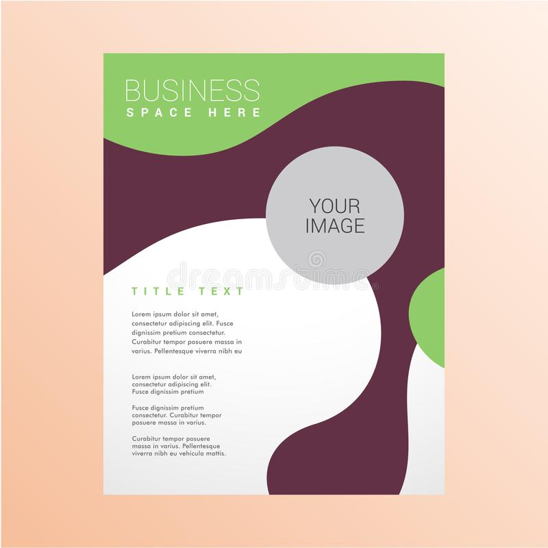 Modern business flyer design template. Colorful modern business flyer design template stock photos