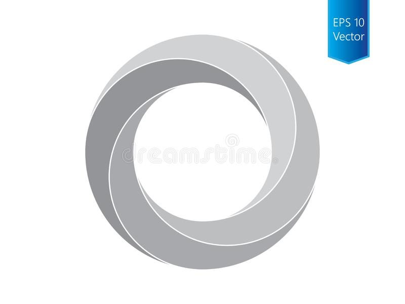 Twisted circle vector stock illustration