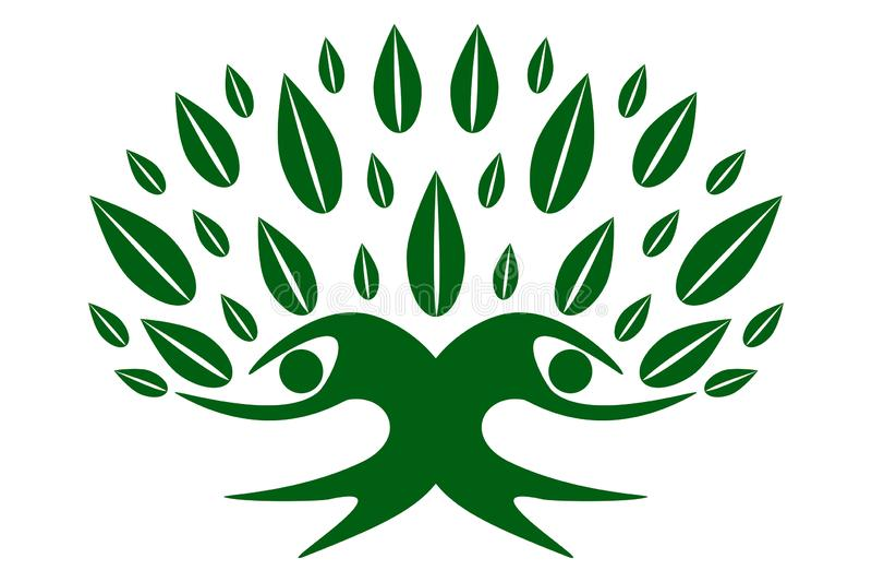 Green family tree of life stock illustration