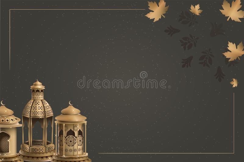 Islamic greeting ramadan kareem background template design royalty free illustration