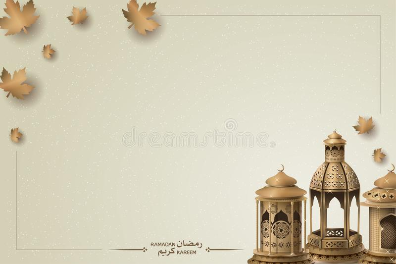 Islamic greeting ramadan kareem background template design stock illustration