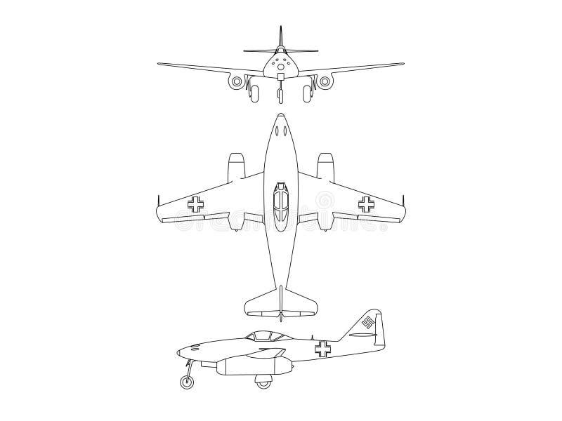 Messerschmitt ME 256 Illustration stock illustration