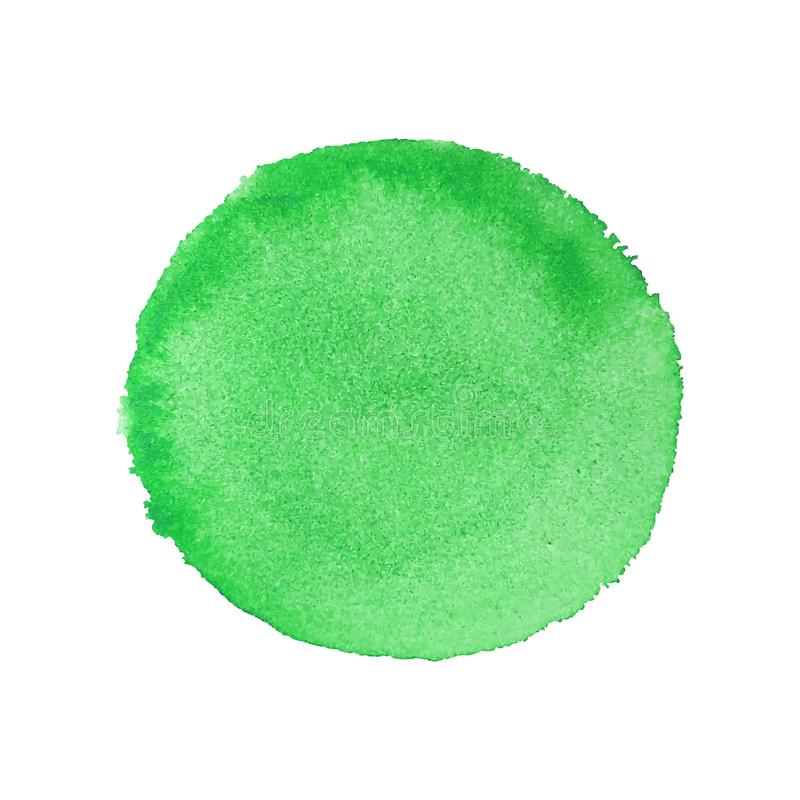 Abstract Watercolor Hand Paint Green Round Background stock illustration