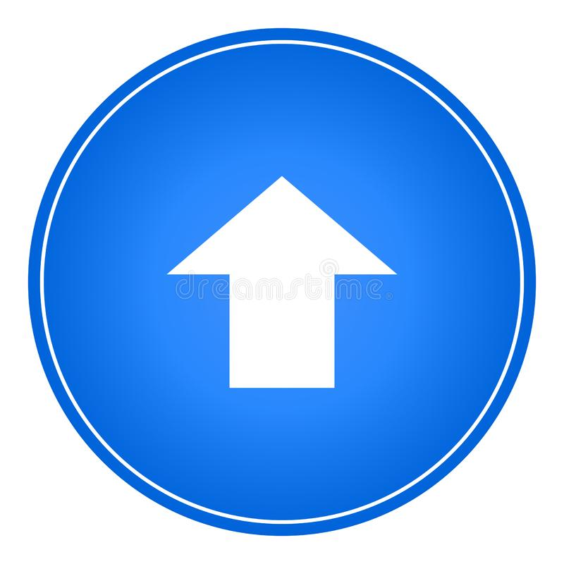Upload icon button web vector color new stock illustration