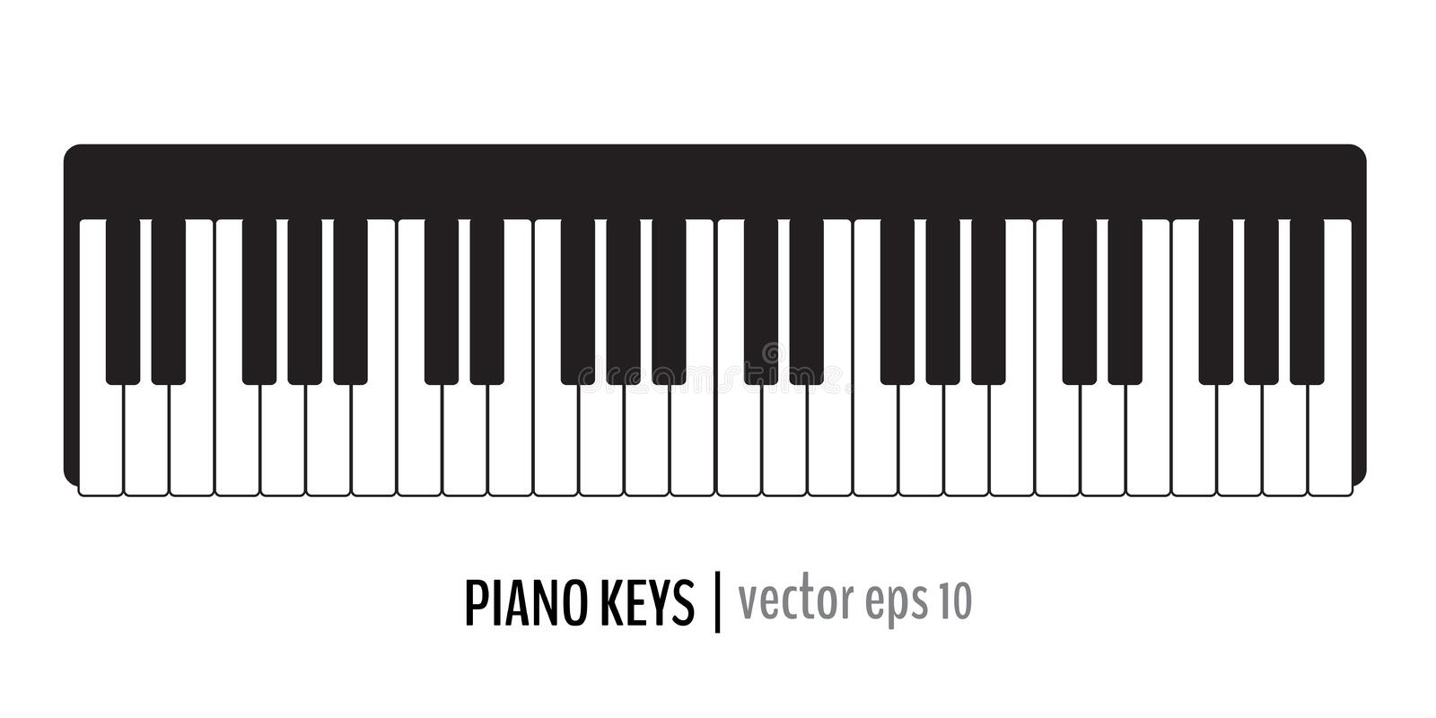 Classic piano keys royalty free stock images