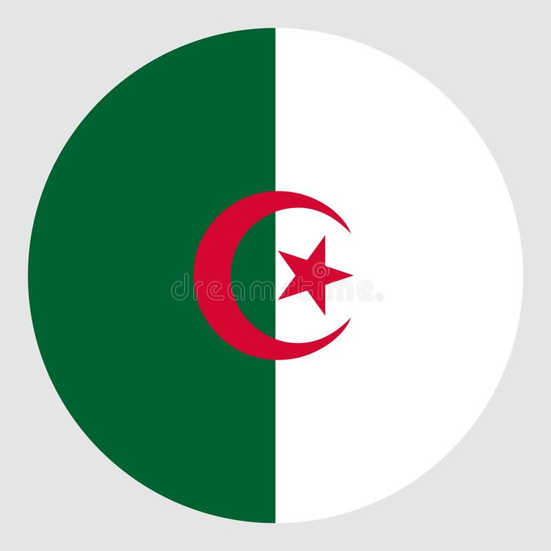Flag of Algeria. Arabic islamic africa vectors royalty free illustration