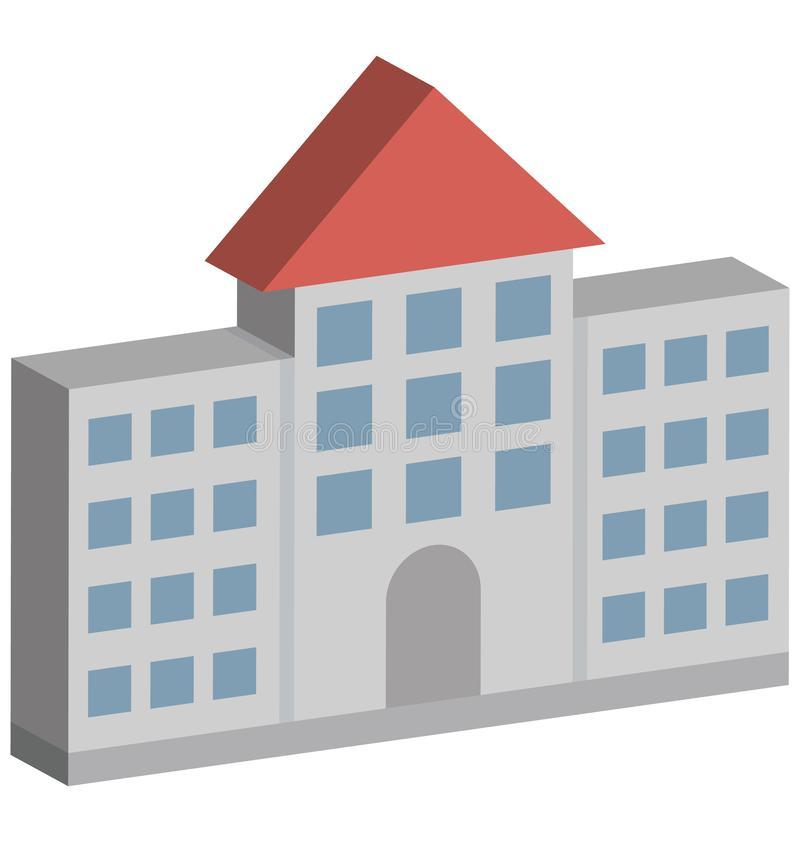 Commercial Building Isolated Isometric Vector icon which can easily modify or edit royalty free illustration
