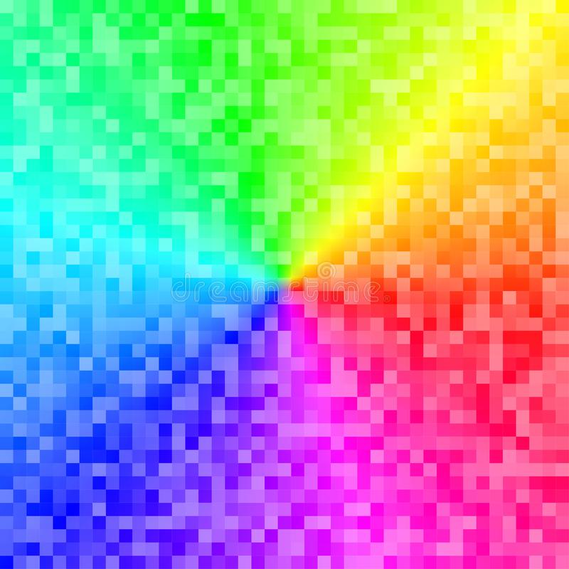 Illustration Pixel Rainbow Stock Vector Illustration Of