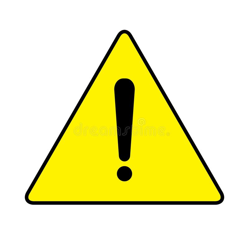 Warning Icon Drawing by Illustration. Warning sign.Warning Icon Drawing by Illustration.Warning symbol in yellow background drawing by illustration royalty free illustration