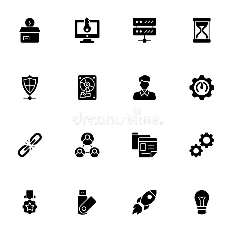Seo and Web Icons Bundle stock photography