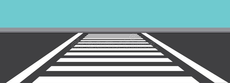 Zebra Cross Side View Vector Illustration vector illustration