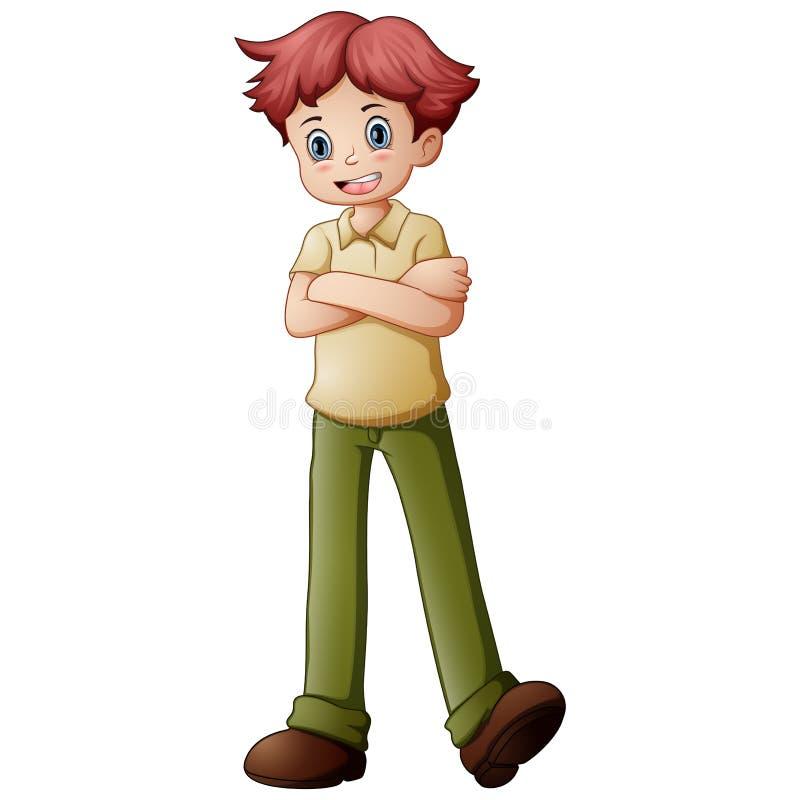 Cute little boy posing. Illustration of Cute little boy posing stock illustration